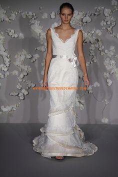 Robe de mariée collection à volants dentelle ceinture
