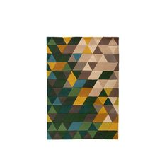Flair Rugs Illusion Prism Wool Hand Tufted Rug, Green/Multi, 160 x 220 Cm Hand Tufted Rugs, Shaggy, Illusions, Prism, Wool, Green, Amazon, Kitchen, Home Decor