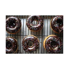 Brown Butter Banana Donuts with Chocolate Glaze found on Polyvore