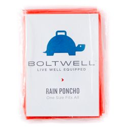While this brightly hued rain poncho would be a great sub for a superhero cape, it's also perfect to have handy for severe weather situations.