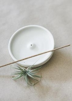 Notary Ceramics - Incense Holder in White