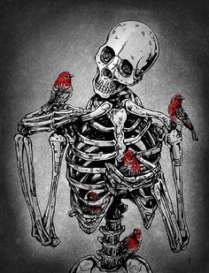 Wass the deal bones Skeleton Art, Anatomy Art, Dark Wallpaper, Gothic Art, Skull And Bones, Horror Art, Skull Art, Macabre, Dark Art