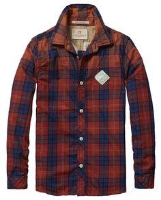 Camisa de cuadros con aplique - Scotch & Soda
