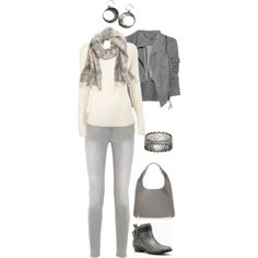"""Plaid Scarf"" by maggie-johnston on Polyvore"