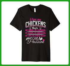 Mens I Love my Chickens Hobby Exercise Escape Passion T-Shirt Large Black - Workout shirts (*Amazon Partner-Link)