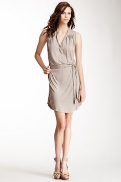 Sleeveless Belted Tunic Dress by Sweet Pea
