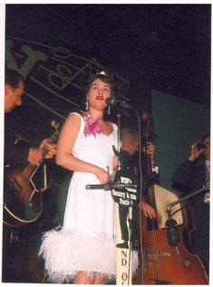 On Stage at the Ryman, 1962.      L-R: Randy Hughes, Patsy Cline and Lightnin' Chance