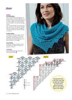 One Skein Crochet, Crochet Chart, Crochet Scarves, Crochet Hooks, Crochet Lace, Shawl Patterns, Crochet Patterns, Blackwork Patterns, Crochet Capas