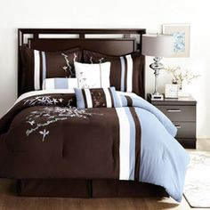 Joanna--brown and baby blue Lauren Taylor, Taylor S, Canada Shopping, Comforter Sets, Bedding, Online Furniture, Bed Sheets, Mattress, Comforters