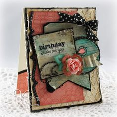 Birthday card by Julee Tilman using Verve Stamps #vervestamps