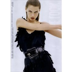 Fendi Ad Campaign Spring/Summer 2006 ❤ liked on Polyvore featuring models, ad campaign tear sheet and angela lindvall