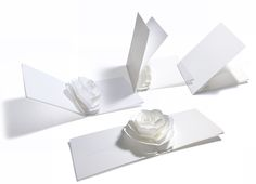 Pop-up Wedding Invitation Card -Rose- http://www.paper-and-arts.com/