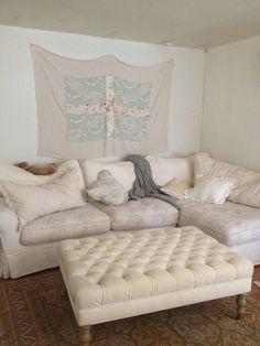 Rachel Ashwell Shabby Chic Couture Liliput Velvet Ottoman