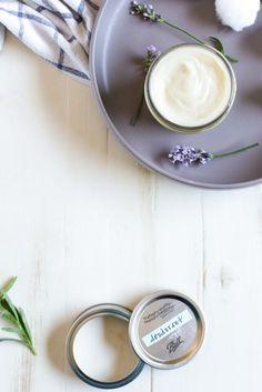 Homemade natural lavender deodorant