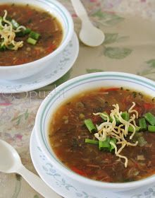 Indo-Chinese style Manchow Soup