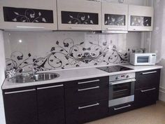 45 Simple Kitchen Design and Decor Ideas That Amazing - babyideaz Simple Kitchen Design, Kitchen Room Design, Home Decor Kitchen, Interior Design Kitchen, Kitchen Furniture, Kitchen Modular, Modern Kitchen Cabinets, Cabnits Kitchen, Kitchen Cupboard Designs