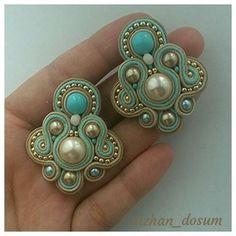 Quilling Jewelry, Diy Jewelry, Jewelery, Handmade Jewelry, Jewelry Design, Soutache Necklace, Ring Earrings, Tassel Earrings, Nespresso