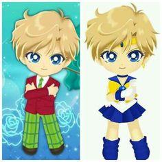 Sailor moon drops: Haruka Tenou/Sailor Uranus Sailor Neptune, Sailor Uranus, Chibi, Sailor Moon Drops, Geek Stuff, Crystal, Classic, Anime, Fictional Characters