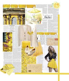 """Yellow Princess"" by kirstent1 ❤ liked on Polyvore"