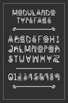 MODULANDO Typeface by Amaury Hamon, via Behance