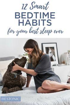 12 Smart Bedtime Habits Worth Adopting for A Better Night's Sleep - Restonic Sleep Love, Sleep Help, Healthy Nights, Ways To Sleep, Sleep Solutions, Sleep Remedies, Bedtime Routine, Good Habits, Health Benefits