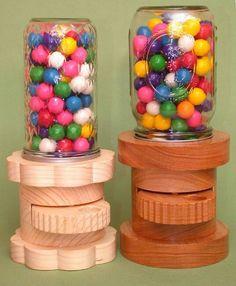 Gumball Dispenser Wooden Candy Machine Handmade Gifts Ooak The Tattooed Butterfly