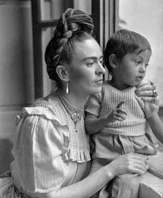 Frida Kahlo (1944) who had phsyical disabilities and following a bus accident as a teenager she received terrible injuries. She painted many self portraits.