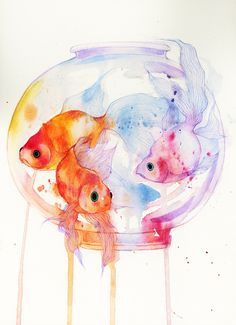 Goldfish Art Print by Ania | Society6