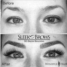 Amazing Brow transformation!!  Want to learn this Sleek Brows technique? --Learn Threading, Brow Extensions, and 3D Brow Sculpting.  We are setting up trainings NOW!  www.Facebook.com/SleekBrowsMidwest  SleekBrows@LashandBrowtraining.com