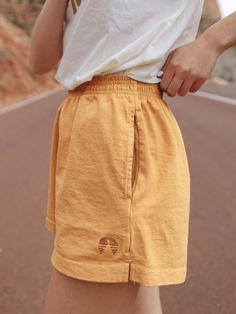 nothing can change your whole world like a perfect pair of summer shorts model is wearing size small See last photo for size guide buy the color set and save FITtrue to size loose fit DETAILS 100 Cotton Vintage Garment Dyed Fabric MADE IN THE USA Mode Outfits, Short Outfits, Outfits For Teens, Trendy Outfits, Fashion Outfits, Spring Outfits, Summer Camp Outfits, Overalls Fashion, Bar Outfits