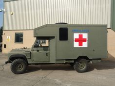 Land Rover 130 Defender Wolf RHD Ambulance ex military for sale / NATO army Land Rover 130, Land Rover Defender, Lifted Ford Trucks, Jeep Truck, Old Trucks, All Power Rangers, Ems Ambulance, Equipment For Sale, Heavy Equipment