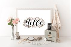$4.40 Welcome sign printable Foyer decor Welcome to by HeartOfLifeDesign