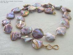 Dark Dusty Lavender Keshi Freshwater Pearl Necklace