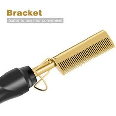 Hot Comb Electric Beard Hair Straightener Brush Comb Flat Curler Curling Iron UK | eBay Curling Iron Hairstyles, Permed Hairstyles, Straight Hairstyles, Hair Brush Straightener, Hair Curler, Straight Hair Perm, Flat Iron Curls, Hair