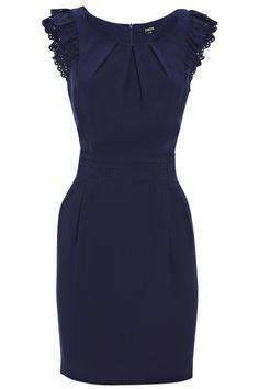 Little blue dress. yes please but in BLACK