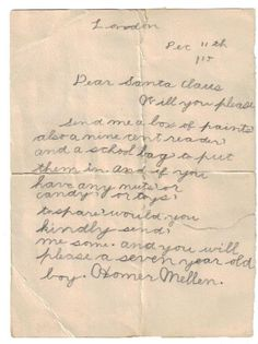 'Dear Santa': Adorable Christmas Requests from Kids, 1900s–Now