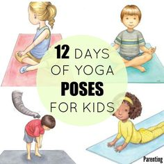 "To jumpstart your holiday yoga routine, try practicing these postures as a family by using the ""Twelve Days of Christmas"" song or with the acronyms PEACE, LOVE, and JOY."