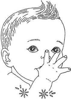 vintage baby clipart, little girl illustration, black and