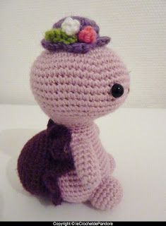 le Crochet de Pandore | Miss Turtle et Mister Angel |  Ma première commande !!! *_*   Miss Turtle version violette et Mister Angel :                      ...