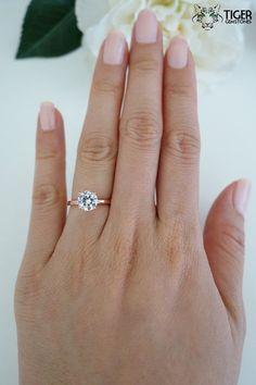 Im in love !!! 1.5 carat 7mm Solitaire Engagement Ring Round by TigerGemstones