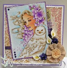 """By Challenge DT member, Debbie Pamment, with """"Winter Lullaby"""""""