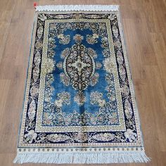 Camel Carpet Hand Knotted Small Size Silk Rug 2.5'x4'