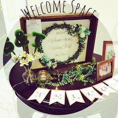 ୨୧୨୧୨୧ . 結婚式ふりかえりシリーズw . 手づくりのウェルカムボード♡ こだわったウェルカムスペース♡ . 理想通りにできて大満足*˚·( ´ ∀ ` )·˚* . #happywedding#groom#bride #2015年11月7日#結婚式#披露宴#二次会 #ROYALGRACE大聖堂#結婚#夫婦 #ウェルカムスペース#ウェルカムボード #ウエディングツリー#ミニイニシャルモス #ウェルカムガーランド#手づくりいっぱい #100均#グリーン#LEDライト#LEDキャンドル