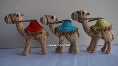 Camel pattern, free pattern but needs to be translated CANAL CROCHET: Camello amigurumi patrón libre.
