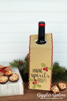 Making Spirits Bright Wine Tag