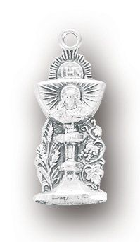 "Sterling Silver, First Holy Communion Jewelry, 3/4"" Medal... https://www.amazon.com/dp/B0127XSO9Q/ref=cm_sw_r_pi_dp_x_14aYybYHSBR02"