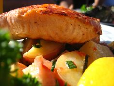 Salmon for lunch! Enjoy! #lunch #salmon #healthy #food #cooking