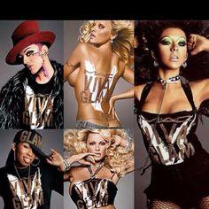 Boy George, Missy Elliott, Pamela Anderson, and Christina Aguilera.. Viva Glam MAC!