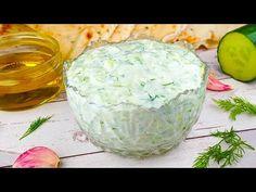 Tzatziki, Cucumber Dip, Creamy Cucumbers, Greek Recipes, Keto Recipes, Taziki Sauce, Turkish Kitchen, Sauce Tomate, Snacks Für Party