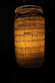 sheet music mason jar - Google Search